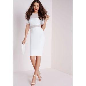 ASOS Mesh Insert Midi Body Con Dress